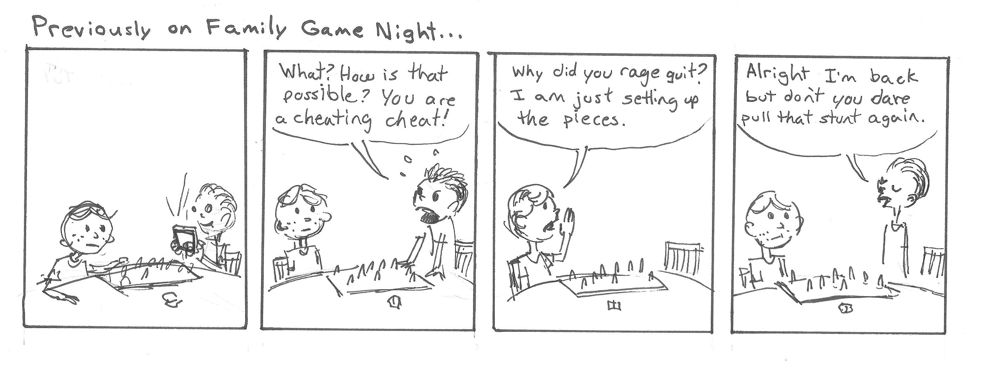Previously on Family Game Night...